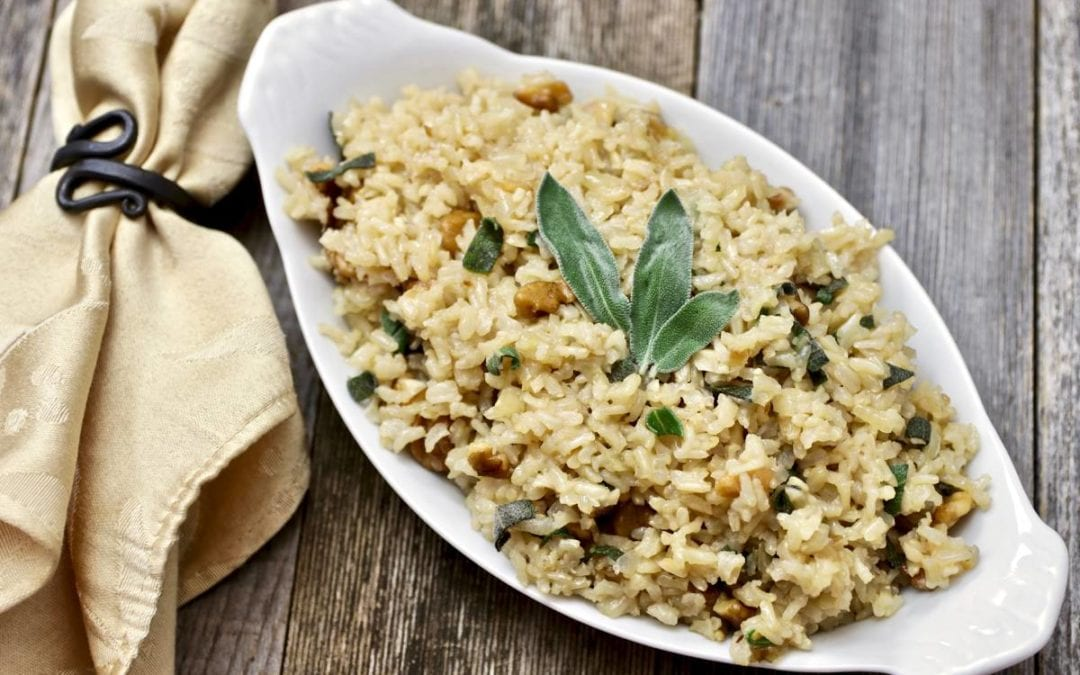 Brown Rice With Sage and Walnuts